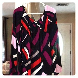 Colorful long sleeve top